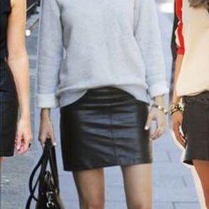 Leather mini skirt A line NWOT